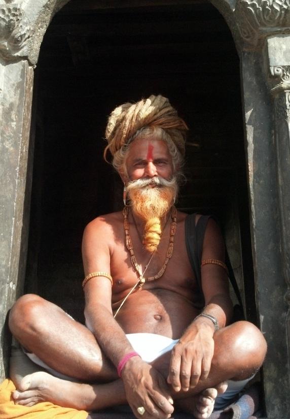 A tourist sadhu in Kathmandu, Nepal