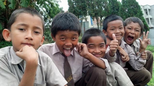 Kids in Kathmandu, Nepal