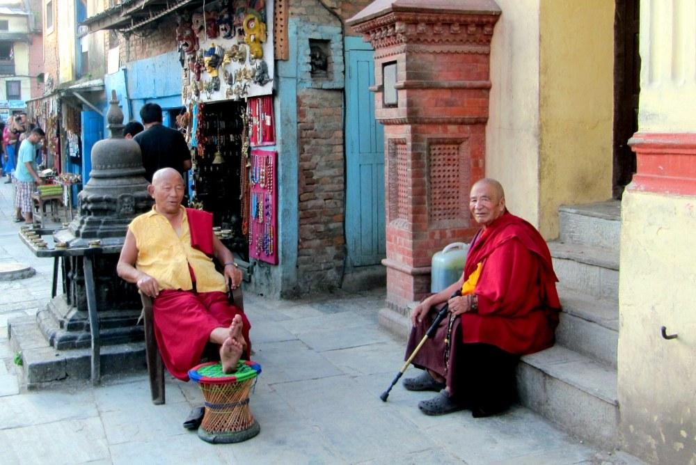 Monks in Kathmandu, Nepal